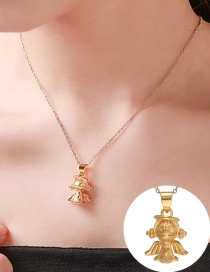 Fashion Golden Angel Baby Stainless Steel Alloy Necklace
