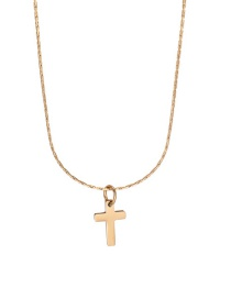 Fashion Golden Stainless Steel Geometric Cross Alloy Necklace