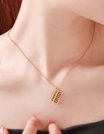 Fashion Golden Abacus Stainless Steel Alloy Geometric Necklace