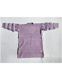 Fashion Deep Purple Knitted Plush Sweater