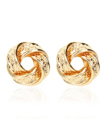 Fashion Golden Geometric Shaped Electroplated Hollow Alloy Earrings