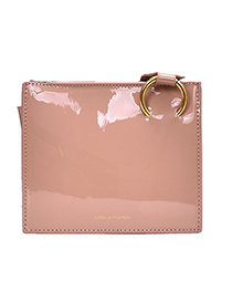 Fashion Pink Metallic Patent Leather Cross-body Shoulder Bag