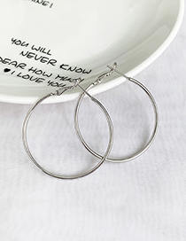 Fashion Silver Alloy Circle Earrings