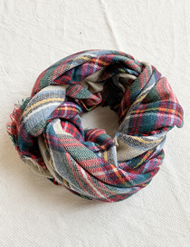 Fashion Color Knitted Plaid Color Scarf