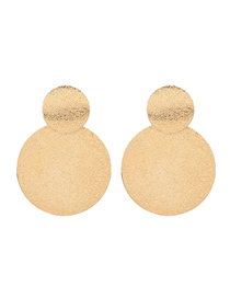 Fashion Golden Multi-layer Round Frosted Alloy Earrings