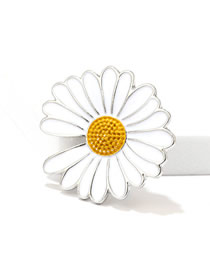 30 * 30mm Daisy Daisy Alloy Couple Brooch