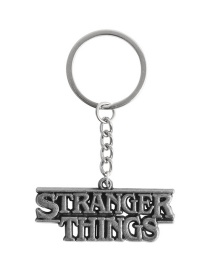 Fashion Ancient Silver Alloy English Stranger Things Keychain