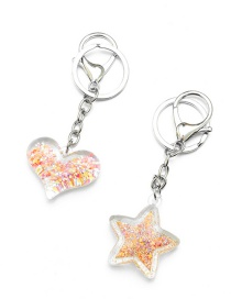 Fashion White K Acrylic Love Sand Keychain