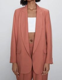 Blazer De Seda Color Liso Satinado
