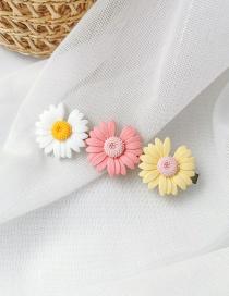 Fashion Three Flowers (huang Fenbai) Daisy Duck Clip