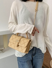 Fashion Yellow Diamond Chain Slanting Shoulder Bag