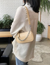 Fashion Yellow Stone Chain Chain Shoulder Bag