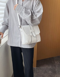 Fashion White Folding Flip Shoulder Bag