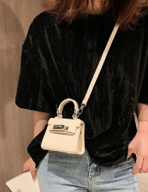 Fashion White Flip Button Single Shoulder Shoulder Bag