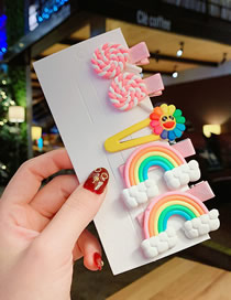 Fashion Rainbow Combination Of Lollipop Candy Color Hair Clip