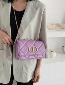 Fashion Violet Diamond Chain Single Shoulder Bag