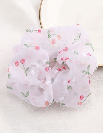 Fashion Violet Fruit Cherry Print Chiffon Hair Rope