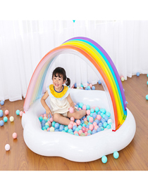 Fashion White Rainbow Inflatable Baby Children's Paddling Pool