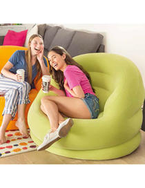 Fashion Green Inflatable Single Sofa With Backrest