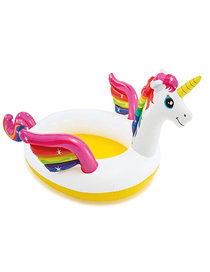 Fashion Separate Pool Unicorn Baby Playing In Inflatable Family Swimming Pool