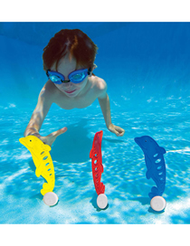 Fashion Set Of 3 Colors Three Sets Of Children Diving Dolphins Underwater Swimming Diving Buoys