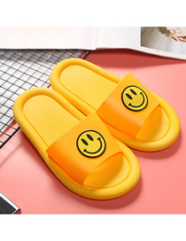 Fashion Yellow Children's Sandals And Slippers With Soft Face And Smile
