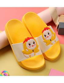 Fashion Small Banana Fruit Hit Color Soft Bottom Non-slip Children's Word Slippers