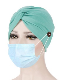Fashion Mint Green Anti-leash Band Button Knotted Toe Cap