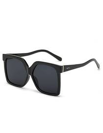 Fashion Black Big Frame Release Rice Nail Sunglasses