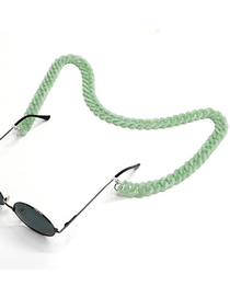 Fashion 6 Green Acrylic Chain Solid Color Glasses Chain