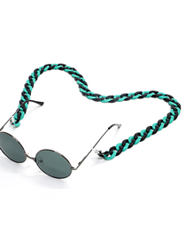 Fashion Blue Black Mixed Color Acrylic Leopard Tortoiseshell Amber Glasses Chain