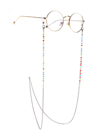 Fashion Silver Crystal Stainless Steel Chain Color-retaining Non-slip Glasses Chain