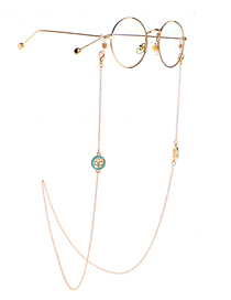 Fashion Golden Turquoise Life Tree Color-preserving Chain Anti-lost Glasses Chain