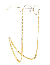 Fashion Golden Gold Chain Metal Anti-skid Thick Glasses Chain