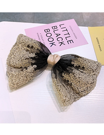 Fashion Black Lace Large Bow-knot Hairpin