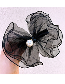 Fashion Black Lace Bow-knot Hand-made Lock Spring Clip