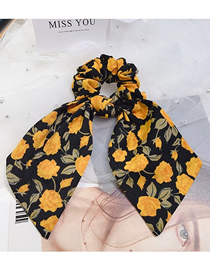 Fashion Yellow Flowers Floral Bow Bow Hair Rope