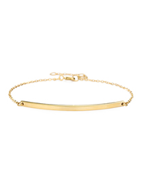 Fashion 14k Gold Stainless Steel Word Smile Stitching Chain Bracelet
