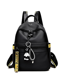 Fashion Black 1 Stitched Letter Backpack