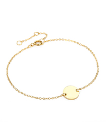 Fashion 14k Gold Middle Round Chain Adjustable Bracelet
