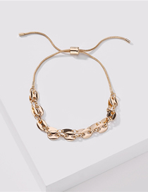 Fashion Golden Copper Chain Pig Nose Chain Hollowed Out Pullable Bracelet