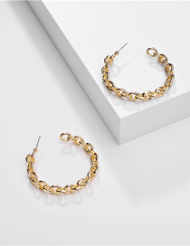 Fashion Gold Alloy Hollow Twist Chain Earrings