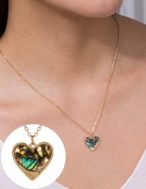 Fashion Love Natural Color Love Abalone Shell Alloy Multi-layer Necklace