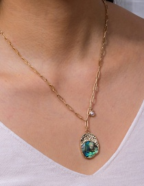 Fashion Geometry Pearl Irregular Abalone Shell Alloy Necklace