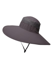Fashion Red Gray Waterproof Stitching Increase The Brim Shrink Button Men's Fisherman Hat