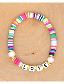 Fashion Color Mixing Natural Pearl Hand-woven Soft Clay Clay Bracelet Bracelet