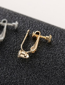 Fashion Gold (one With Silver Needle) Real Gold Plated Screw Ear Clip Converter
