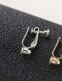 Fashion Silver (one With A Silver Needle) Real Gold Plated Screw Ear Clip Converter