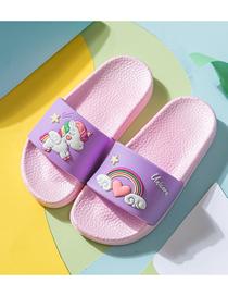 Fashion Purple Unicorn Slippers Rainbow Unicorn Children S Sandals And Slippers