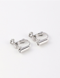 Fashion Silver Invisible Spiral Alloy Ear Clip Converter